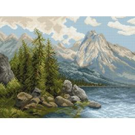 Lake in the mountains - Tapestry canvas