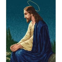 K 758 Jesus - Tapestry canvas