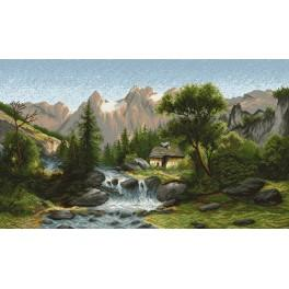 In the valley - Tapestry canvas