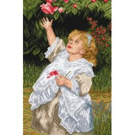 Girl in the garden - Tapestry canvas