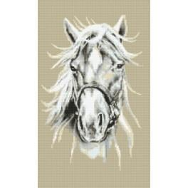 White horse - Tapestry canvas