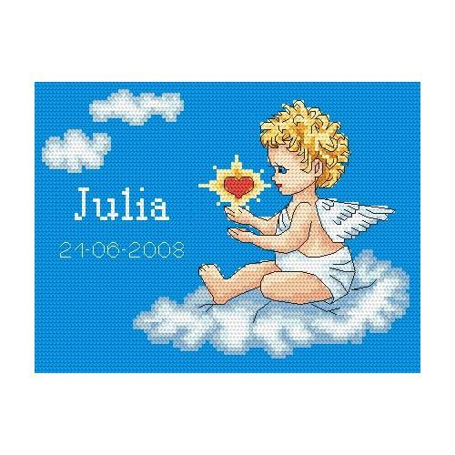 My birthday- Angel on a cloud - Tapestry canvas