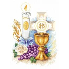 In rememberance of First Communion - Tapestry canvas