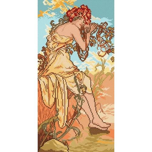 Summer - A. Mucha - Tapestry canvas
