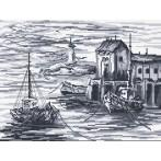 Fishing boats - Tapestry canvas