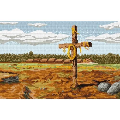 Cross - J. Chelmonski - Tapestry canvas