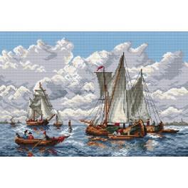 K 4277 Sailing ship - Tapestry canvas
