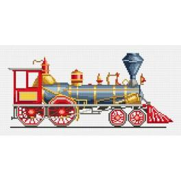Red locomotive - Tapestry canvas