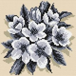 K 4291 The silver small bouquet - Tapestry canvas