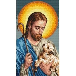 Jesus with a lamb - Tapestry canvas