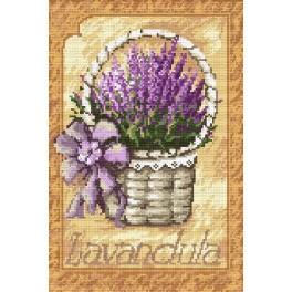 Basket with the lavender - B. Sikora-Malyjurek - Tapestry canvas