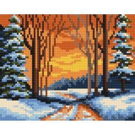 K 4474 Winter path - B. Sikora-Malyjurek - Tapestry canvas