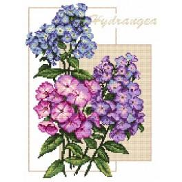 Colourful Hortensia - B. Sikora-Malyjurek - Tapestry canvas