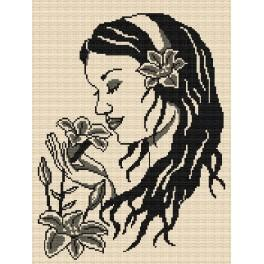 Girl with the lilies - Tapestry canvas