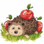 Hedgehogwith apples - Tapestry canvas