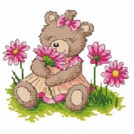 Female teddy bear - Tapestry canvas