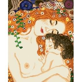 Mother and child by G. Klimt - Tapestry canvas