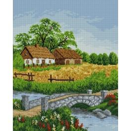 Over the stream - Tapestry canvas