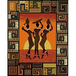 Sunset in africa - Tapestry canvas
