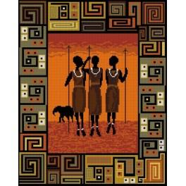 African night - Tapestry canvas