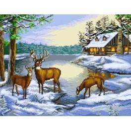 Winter Landscape - Tapestry canvas