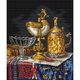 Golden dishes - Tapestry canvas