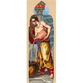 K 8010 W. Crane - Triptych - Asia - Tapestry canvas