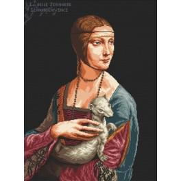 Lady with An Ermine - Leonardo da Vinci - Tapestry canvas