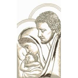 Joseph, Mary and child - Tapestry canvas
