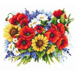 K 8244 A bouquet of poppies - Tapestry canvas