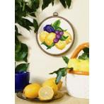 Lemons with plums - Tapestry canvas