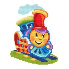 Colourful locomotive - Tapestry canvas