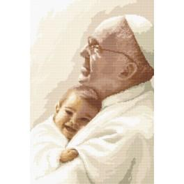 Pope Francis with child - Tapestry canvas