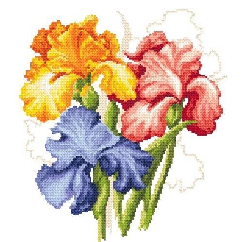 Picturesque Irises Tapestry Canvas Coricamo