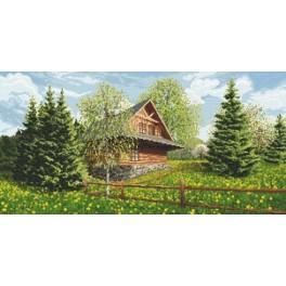 Highlander Cottage - spring - Tapestry canvas