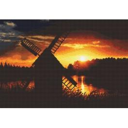 The Sunset windmill - Tapestry canvas