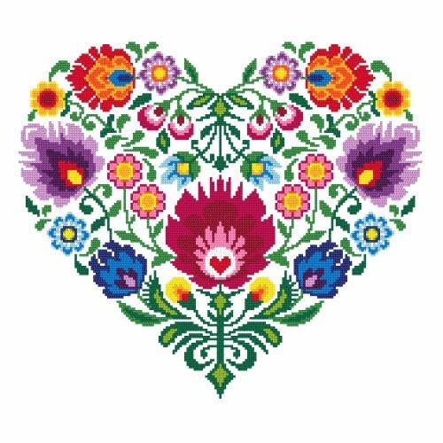 Ethnic heart - Tapestry canvas