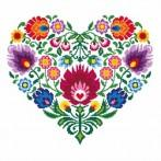 K 8535 Ethnic heart - Tapestry canvas