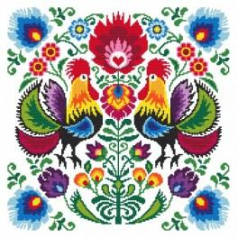 Roosters - Tapestry canvas