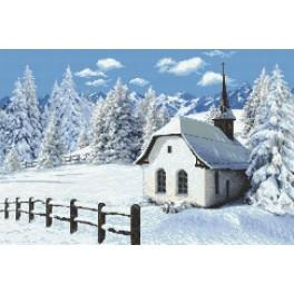 Winter Church - Tapestry canvas
