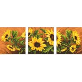 Online pattern - Triptych with sunflowers