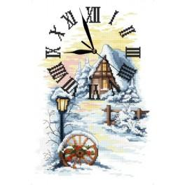 Online pattern - Winter clock