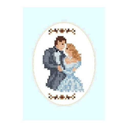 Online pattern - Wedding Card - Newly-married couple(oval)