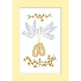W 2103 Online pattern - Wedding Card - Wedding rings