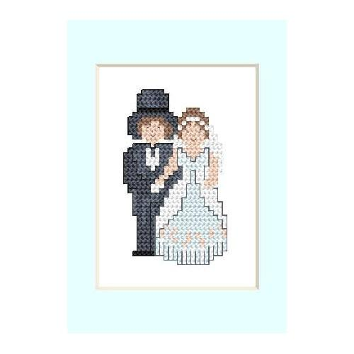 Online pattern - Wedding Card - Newly-married couple