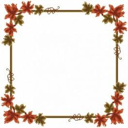 Online pattern - Napkin - Autumn leaves