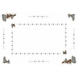 Online pattern - Tablecloth - Roe-deers