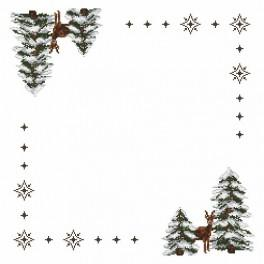 Online pattern - Napkin - Roe-deers