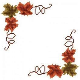 Online pattern - Small napkin - Autumn leaves