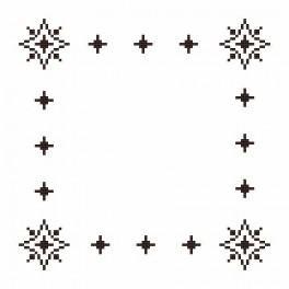 Online pattern - Small napkin - Roe-deers